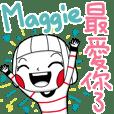 Maggie's namesticker