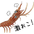 【動く】シュールなエビ