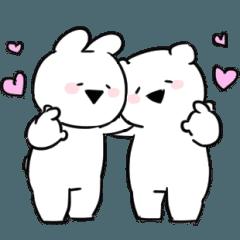 Extremely little Rabbit & bear Animated4