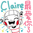 Claire's sticker