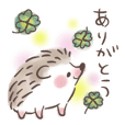 Happy hedgehog greeting