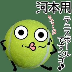 河本用♪テニスボールですンゴ