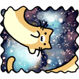 Space Cat Sticker