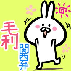 毛利用♪面白い関西弁ウサギ♪