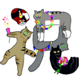 cats of Japanese letter