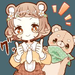 YURUKUMA girl sticker