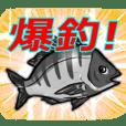 使える!チヌ(クロダイ)釣りキチスタンプ♪