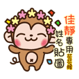 Twopebaby flower monkey 922