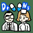 医師・看護師のダジャレスタンプ