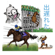 Sticker Of Horse Racing