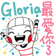 Gloria's sticker