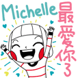 Michelle's name sticker
