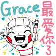 Grace's sticker