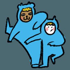 當一天的可愛小藍熊