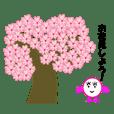Spring cherry stamp.(No.2)