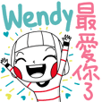 Wendy's sticker