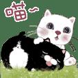 雪花ちゃんと黑豆貓A02-日常会話