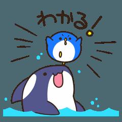 圆形企鹅和小虎鲸
