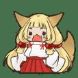 狐巫女の紅狐と狐白