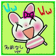 Very convenient! Sticker of [rabbit]!