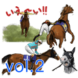 Sticker Of Horse Racing 2