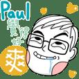 Paul's name sticker
