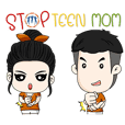 Sticker STOP TEEN MOM 2019