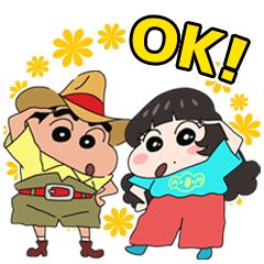 Crayon Shin-chan&Aimyon Stickers