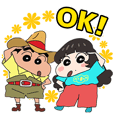 Crayon Shin-chan&Aimyon Stickers