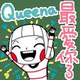 Queena's sticker