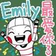 Emily's name sticker
