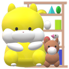[動畫貼紙!]倉鼠RINRIN挑戰家務