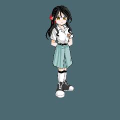 Cute cold teen girl