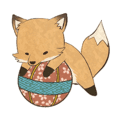 kitsune sticker