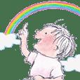 Rainbow coloured Mom