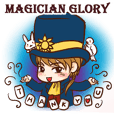 Magician Glory and his assistants