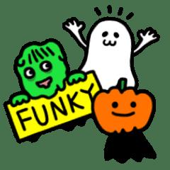 Kawaii Halloween Characters Line Stickers Line Store