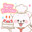 Birthday and congratulations sticker