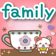 Panda cat, Pannya large family english