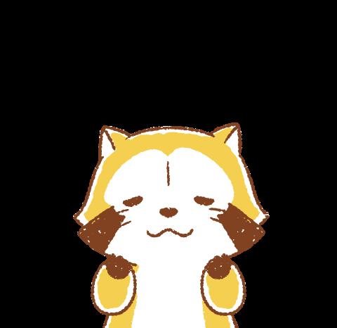 柔和風小浣熊☆ 全螢幕貼圖