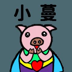 善善豬姓名貼1-小蔓專用
