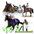 Sticker Of Horse Racing 3