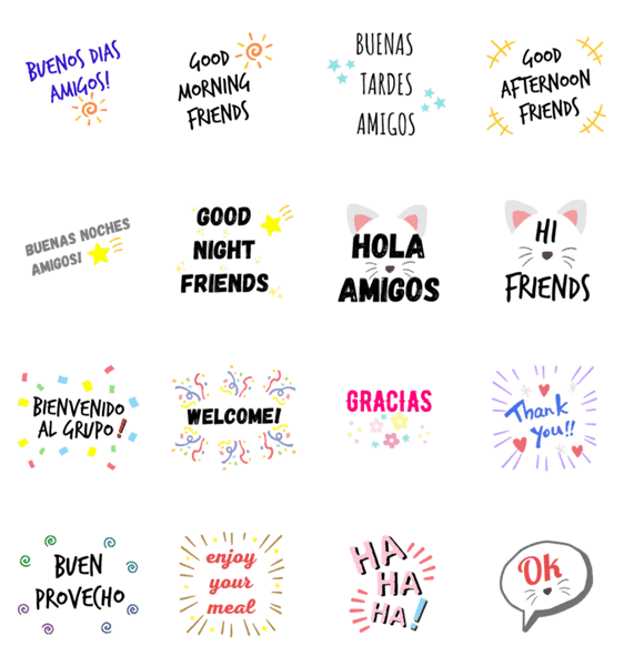 「Friendly Greetings」のLINEスタンプ一覧