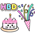 Happy Birthday Cute Cakes : Animated