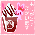 Chocolate Bunny Sticker