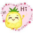 Daily life - cute pineapple (word)1