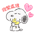 Cute Crayon Snoopy Stickers