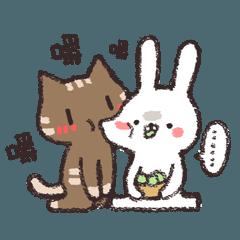 作死的兔子與腹黑的貓