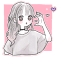 Everyday cute girl sticker