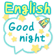 English greeting sticker! Big size